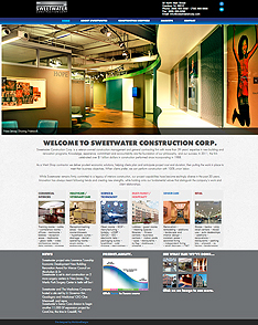 Moldave & Cook Strategic Communications Web site for Sweetwater Construction Corp